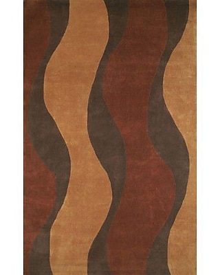 American Home Rug Co. Casual Contemporary Rust / Brown Windsong Area Rug; 8' x 11'