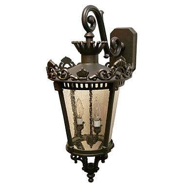 Melissa Tuscany 3-Light Outdoor Wall Lantern; Old Bronze