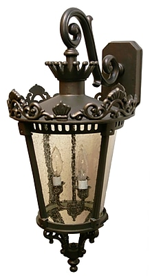 Melissa Tuscany 3-Light Outdoor Wall Lantern; Architectural Bronze