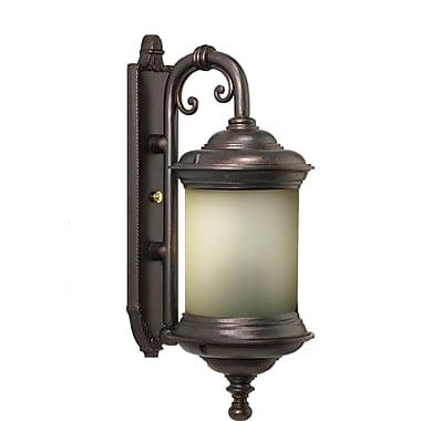 Melissa Tuscany 3-Light Outdoor Wall Lantern; Architectural Bronze