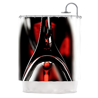 KESS InHouse Red for Two Shower Curtain