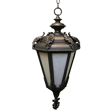 Melissa Parisian Elegance 3-Light Outdoor Hanging Lantern; Aged Silver