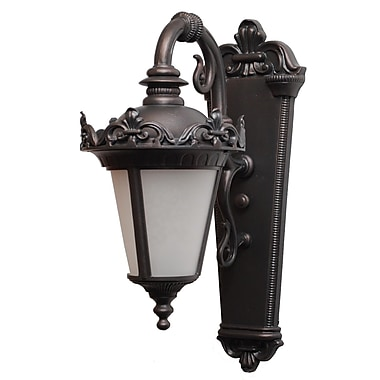 Melissa Parisian Elegance 1-Light Outdoor Wall Lantern; Black