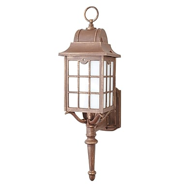 Melissa 600 Series 1-Light Outdoor Sconce; Architectural Bronze