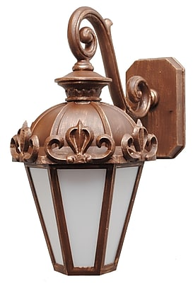 Melissa Parisian Elegance 1-Light Outdoor Wall Lantern; Old Iron