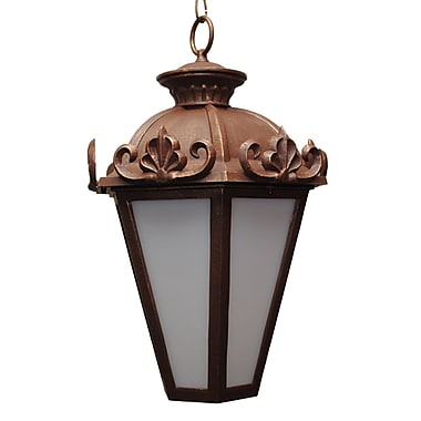 Melissa Parisian Elegance 3-Light Outdoor Hanging Lantern; Old Copper