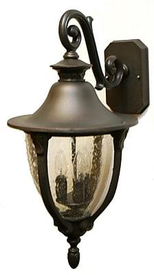 Melissa Tuscany 3-Light Outdoor Wall Lantern; Black