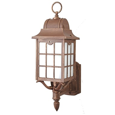 Melissa 600 Series 1-Light Outdoor Sconce; Patina Bronze