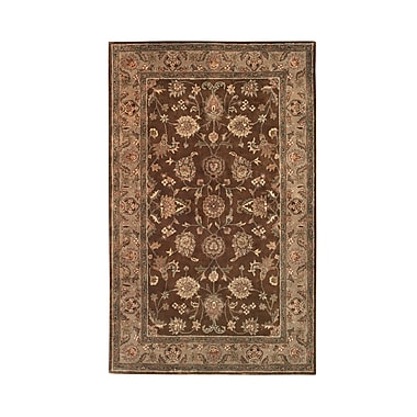 Noble House Vintage Brown/Camel Rug; 5' x 8'