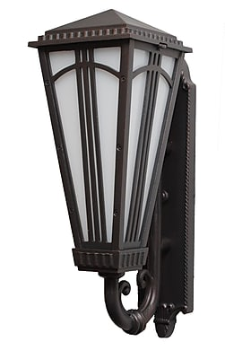 Melissa Parisian Elegance 1-Light Outdoor Sconce; Patina Bronze