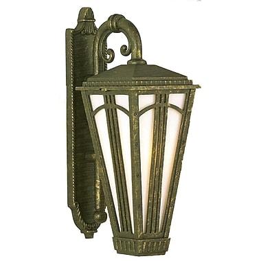 Melissa Parisian Elegance 1-Light Outdoor Wall Lantern; Black