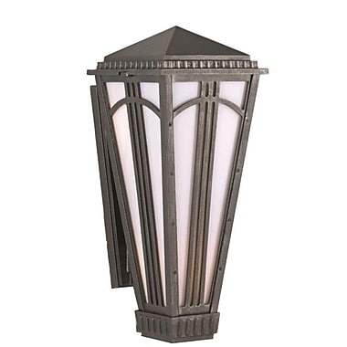 Melissa Parisian Elegance 1-Light Outdoor Sconce; Aged Silver