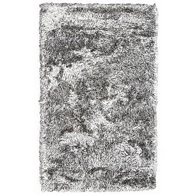 Noble House Crystal Multi White/Black Rug; 4' x 6'