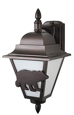 Melissa Americana 1-Light Outdoor Wall Lantern; Aged Silver