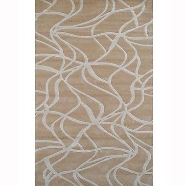 American Home Rug Co. Kinetic Beige/Ivory Rug; 8' x 11'