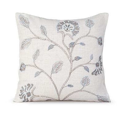 Gracious Living Foliage Burlap Throw Pillow; White