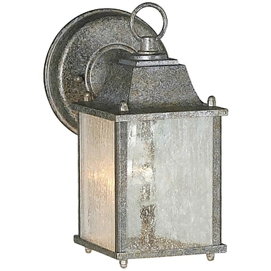 Forte Lighting 1-Light Outdoor Wall Lantern; River Rock