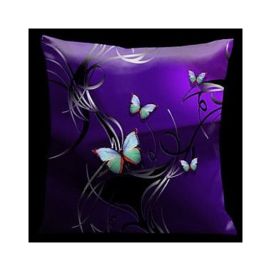 Lama Kasso Butterflies Tropical Throw Pillow
