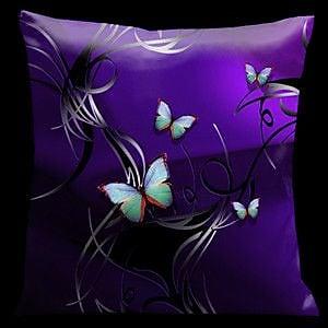 Lama Kasso Butterflies Tropical Throw Pillow