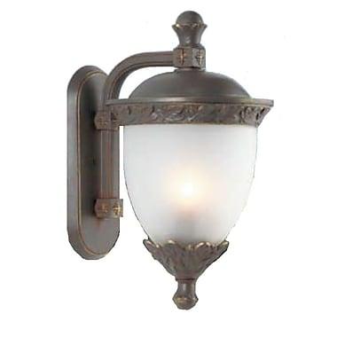 Melissa Tuscany 2-Light Outdoor Wall Lantern; Old Iron