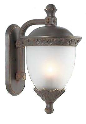 Melissa Tuscany 2-Light Outdoor Wall Lantern; Black