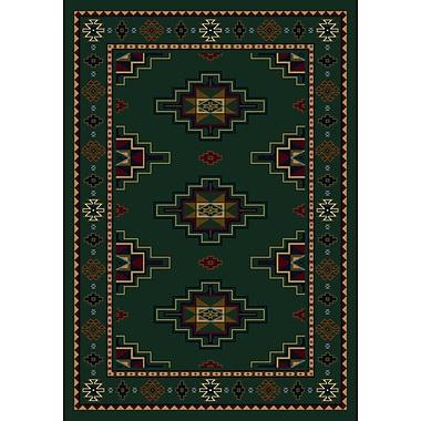 Milliken Signature Prairie Star Emerald Area Rug; Rectangle 3'10'' x 5'4''