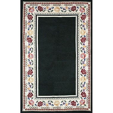 American Home Rug Co. Bucks County Black/Ivory Border Area Rug; Runner 2'6'' x 6'