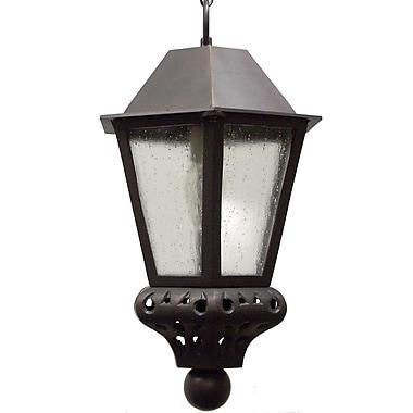 Melissa Tuscany 1-Light Outdoor Hanging Lantern; Architectural Bronze