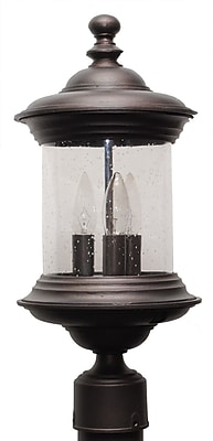 Melissa Tuscany TC4000 Series 3-Light Lantern Head; Aged Silver