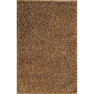 Meva Rugs Royal Shag Gold/Black Rug; 7'9'' x 10'6''