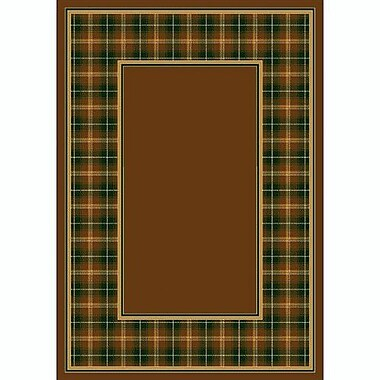 Milliken Design Center Dark Amber McIntyre Area Rug; Rectangle 7'8'' x 10'9''