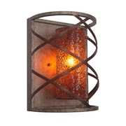Woodbridge Braid 1-Light Wall Sconce; Amber Mosaic Glass