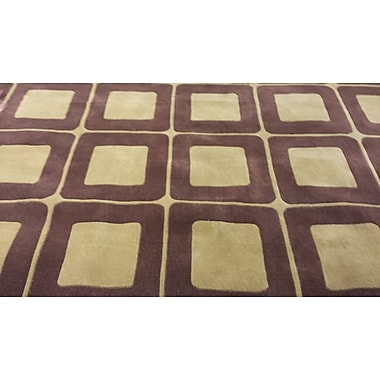 American Home Rug Co. Casual Contemporary Brown / Tan Area Rug; 3'6'' x 5'6''