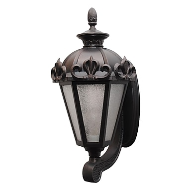 Melissa Parisian Elegance 1-Light Outdoor Sconce; Old Iron