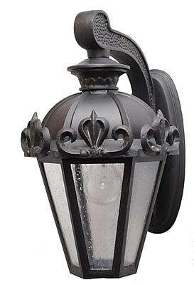 Melissa Parisian Elegance 1-Light Outdoor Wall Lantern; Old Bronze