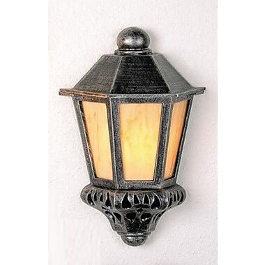 Melissa Tuscany 1-Light Outdoor Flush Mount; Old Copper