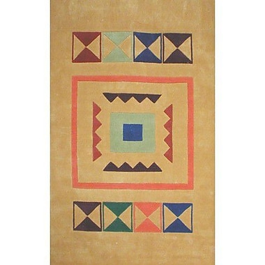 American Home Rug Co. Bright Aztek Yellow Area Rug; 5' x 8'