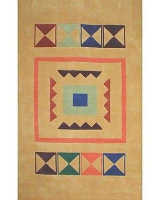 American Home Rug Co. Bright Aztek Yellow Area Rug; 5' x 8'
