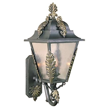 Melissa Parisian Elegance 3-Light Outdoor Sconce; Old World