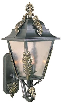 Melissa Parisian Elegance 3-Light Outdoor Sconce; Aged Silver