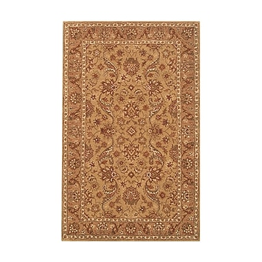 Noble House Harmony Beige/Camel Floral Area Rug; 5' x 8'