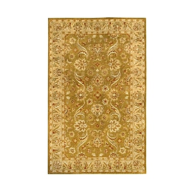 Noble House Harmony Gold Floral Area Rug; 8' x 11'