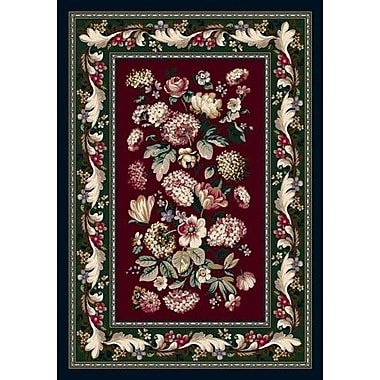 Milliken Innovation Chelsea Garnet Area Rug; Oval 3'10'' x 5'4''