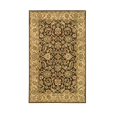 Noble House Harmony Brown/Gold Floral Area Rug; 3'6'' x 5'6''