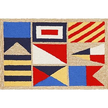 Liora Manne Frontporch Signal Flags Area Rug; 2'6'' x 4'