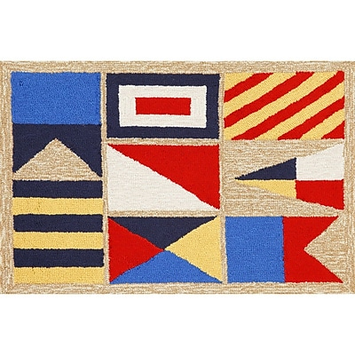 Liora Manne Frontporch Signal Flags Area Rug; 3'6'' x 5'6''