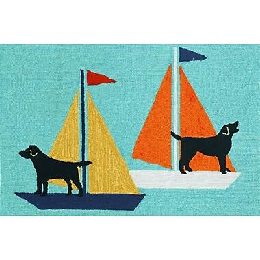 Liora Manne Frontporch Sailing Dog Area Rug; 1'8'' x 2'6''