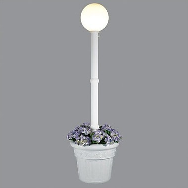 Patio Living Concepts Milano 1-Light 82'' Post Light; White / White