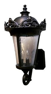 Melissa Parisian Elegance 4-Light Outdoor Sconce; Old Copper