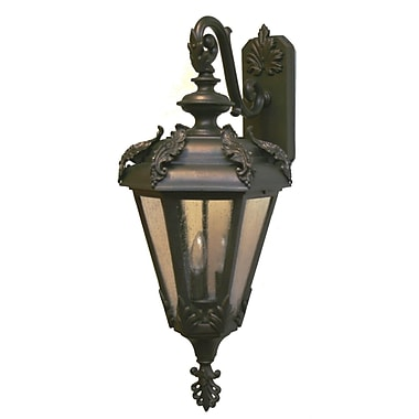 Melissa Parisian Elegance 3-Light Outdoor Wall Lantern; Patina Bronze
